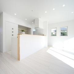 白を基調とした統一感のあるお家