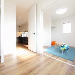 引き戸で仕切ることができる子供部屋