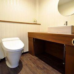 ヘアーサロンのトイレ