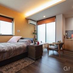 高級ホテルのような寝室