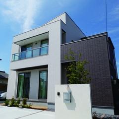 千葉市緑区鎌取町のミッドセンチュリーな外観の家で広いベランダ・バルコニーのあるお家は、クレバリーホーム千葉東店まで!