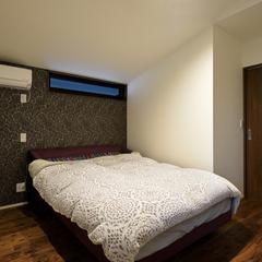 シックな寝室 注文住宅