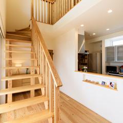 デザイナーズ住宅 木製階段