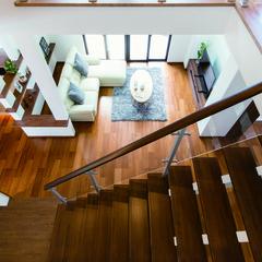 米子市美吉の高気密高断熱の家でストリップ階段のあるお家は、クレバリーホーム 米子店まで!