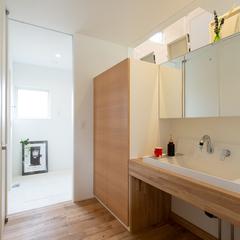 櫻井建設 洗面台 トレッティオグラード 北欧と和の融合