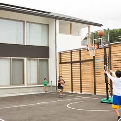 バスケットコートのある家 思いっきりバスケを楽しんでます BDAC=Style 奥野公章 ㈱櫻井建設