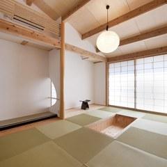 THE和室 やっぱり寛げる和室 照明もやわらかい光 (株)櫻井建設