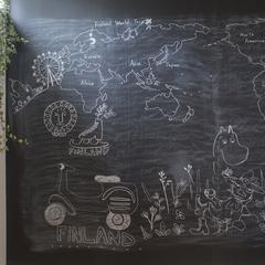 玄関のブラックボード 家族の連絡ツールにどうぞ 子供は喜んで自由にお絵描き (株)櫻井建設