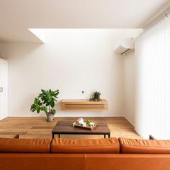 ビンテージソファ ソファからの眺め リビングルーム TRETTIO トレッティオ さあはじめよう 30歳からの家づくり ㈱櫻井建設