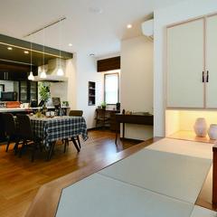 大牟田市櫟野のブルックリンな家でおしゃれな造作家具のあるお家は、クレバリーホーム大牟田店まで!