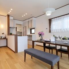 熊本市南区出仲間の北欧な外観の家でカフェ風なキッチンのあるお家は、クレバリーホーム 熊本店まで!