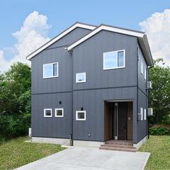 【上越妙高】ローコスト・2000万円台で建てるこだわりの新築住宅!【ネイビー・青の外観】