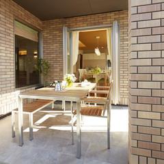 沖縄市海邦町のアメリカンな家で中庭のあるお家は、クレバリーホーム泡瀬店まで!