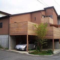山際建設よりデザイン住宅・ウッドデッキが特徴です