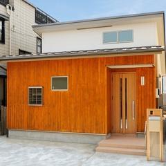 山際建設より木のファサードが印象的な平屋住宅・川口市