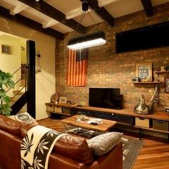 K-industrialよりデザイン企画住宅K-Brooklynのリビング
