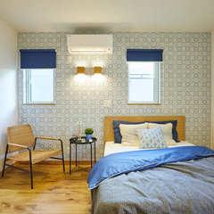 高品質木材の高気密高断熱な北欧の寝室