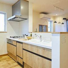 通気性抜群の高気密高断熱に囲まれたキッチン