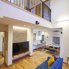 2階からも家族が身近に感じられる 快適が見渡せるスキップフロアー