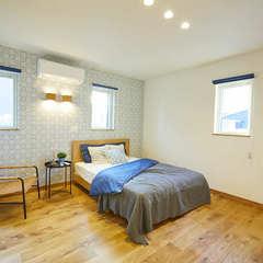 光りと優雅さが映える高気密高断熱の寝室