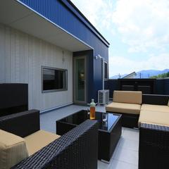 屋上庭園のある家で屋上リゾート