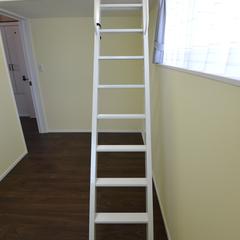 高性能住宅ならでは安全幅広ステップはしご付きロフト