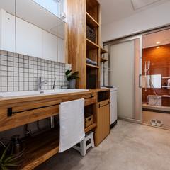 モデルハウス洗面脱衣室/高知で注文住宅を建てるならウッドスタイル株式会社