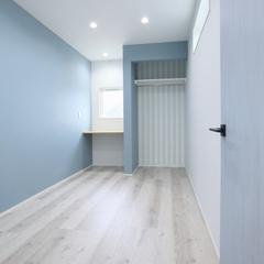 子供室/クロス貼り分け/高知県の注文住宅ならウッドスタイル株式会社