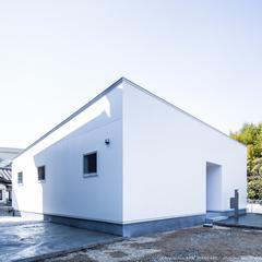 ホワイト外観/平屋/高知市土佐市で住まいづくりならウッドスタイル株式会社
