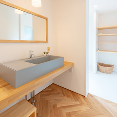 洗面脱衣室/BAW STANDARD/高知県内の自然素材注文住宅ならウッドスタイル株式会社