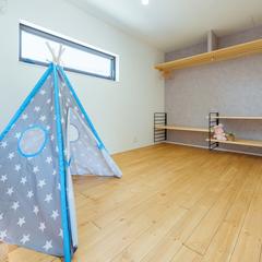 子供室/アイアン造作棚/CL/高知の注文住宅ならウッドスタイル株式会社