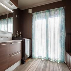 洗面脱衣室/高知の自然素材の家ならウッドスタイル株式会社