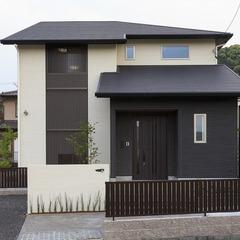 静岡県藤枝市デザイン格子のある和モダン住宅
