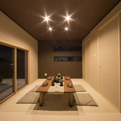 静岡市駿河区 夜景がきれいな屋上庭園の家