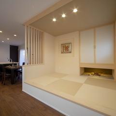 静岡市 サンドエレガンテ塗り壁 畳コーナーのある家