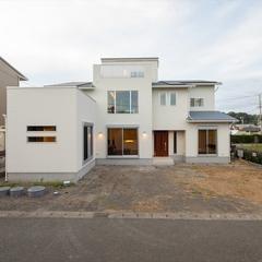 静岡市駿河区 屋上ガーデンのある海が見える家