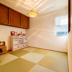 造作家具が素敵な和室/今治市「茉と愛らしい家」