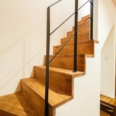 シンプルなリビング階段/四国中央市「共と穏和な家 」