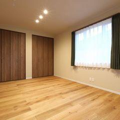 リビングや主寝室をR天井にすると、柔らかい雰囲気になり落ち着いたお家になりますよ。