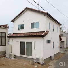 シンプルなママンスタイルのお家。ママンの家はハウスカでご相談ください。