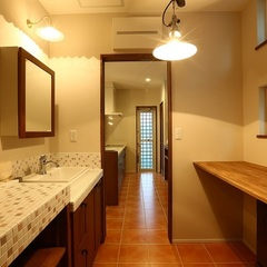洗面脱衣室も用途はそれぞれ。いわき市のハウスカはライフスタイルに合わせて提案します。