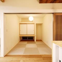 和室でもリビングと統一感を持たせたコーディネートはいわき市のハウスカの得意分野です。