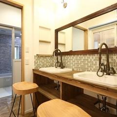 お好きなスタイルに施工できる造作洗面もいわき市のハウスカでご相談ください。