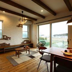 エイジング加工された壁面。ハウスカが施工するエイジング加工でお気に入りのご自宅を造ってみませんか。