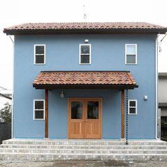 色にこだわるハウスカだからこそ出来る店舗併用住宅のブルーママンの家。