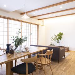 明るい陽射しが差し込む障子のある家 ≪香川県高松市で設計士とかっこいい家をつくるなら吉田建設≫