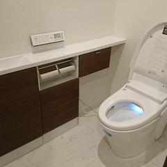 シンプルモダンなトイレは埼玉県三郷市の恩田工務店まで!