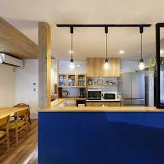 キッチンがアクセントのお家