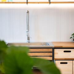 一人でさみしいキッチンをリビングのセンタ-に 家族との団らんの家 青山都市建設 !105