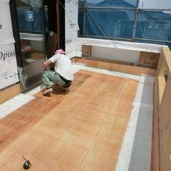大きなバルコニ-のFRP防水。千葉県我孫子市の青山都市建設です!91